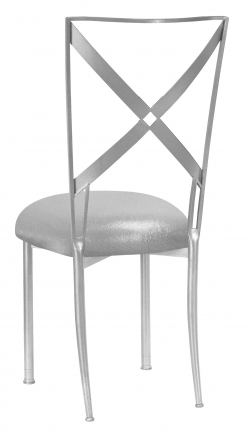 Simply X with Metallic Silver Stretch Knit Cushion (1)