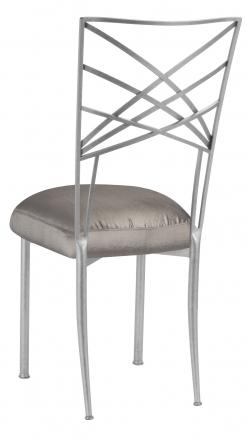 Silver Fanfare with Charcoal Taffeta Boxed Cushion (1)