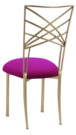 Gold Fanfare with Magenta Stretch Knit Cushion (1)
