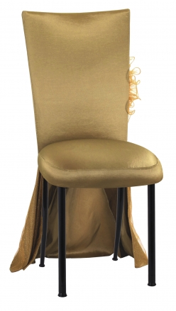 Gold Taffeta BET Dress with Boxed Cushion on Black Legs (2)