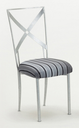 Simply X with Charcoal Stripe Cushion (2)