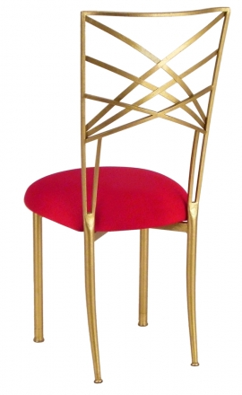Gold Fanfare with Red Stretch Knit Cushion (1)