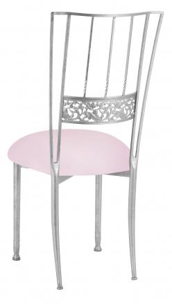 Silver Bella Fleur with Soft Pink Knit Cushion (1)