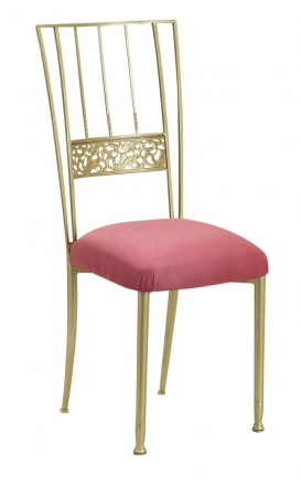 Gold Bella Fleur with Raspberry Suede Cushion (2)