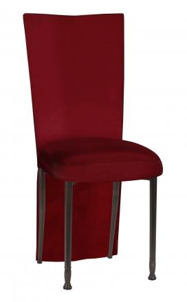 Burnt Red Dupioni Jacket with Boxed Cushion on Mahogany Legs (2)