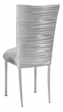 Chloe Metallic Silver on White Foil with Cushion on Silver Legs (1)