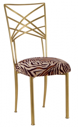 Gold Fanfare with Zebra Stretch Knit Cushion (2)