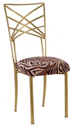 Gold Fanfare with Zebra Stretch Knit Cushion (2)