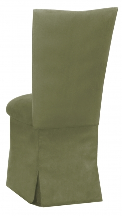Sage Suede Chair Cover and Cushion and Skirt (1)