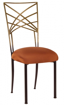 Two Tone Gold Fanfare with Copper Stretch Knit Cushion (2)