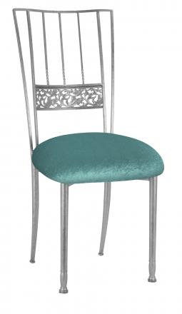 Silver Bella Fleur with Turquoise Velvet Cushion (2)