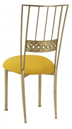 Gold Bella Braid with Bright Yellow Stretch Knit Cushion (1)