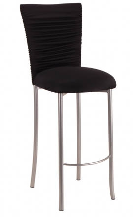 Chloe Stretch Knit Barstool Cover and Cushion on Silver Legs (2)