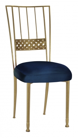 Gold Bella Braid with Midnight Blue Taffeta Boxed Cushion (2)