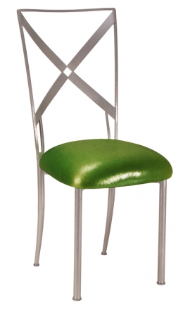 Simply X with Metallic Lime Cushion (2)