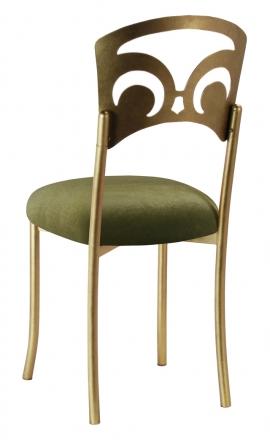 Gold Fleur de Lis with Olive Velvet Cushion (1)