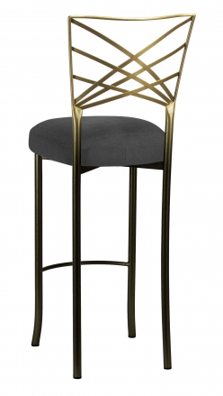 Two Tone Fanfare Barstool with Charcoal Linette Boxed Cushion (1)