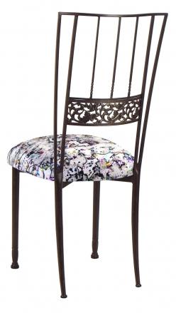 Mahogany Bella Fleur with White Paint Splatter Knit Cushion (1)