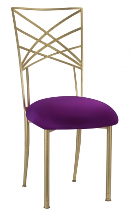 Gold Fanfare with Plum Stretch Knit Cushion (2)