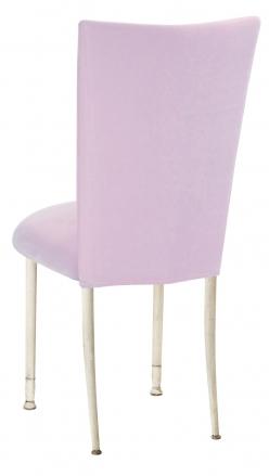 Soft Pink Velvet Chair Cover on Ivory Legs (1)