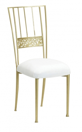 Gold Bella Fleur with White Suede Cushion (2)