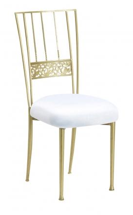 Gold Bella Fleur with White Stretch Knit Cushion (2)