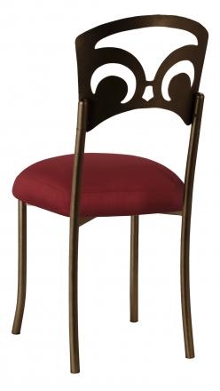 Bronze Fleur de Lis with Burnt Red Dupioni Boxed Cushion (1)