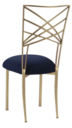 Gold Fanfare with Navy Suede Cushion (1)