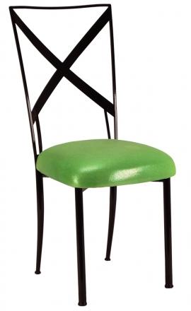 Blak. with Metallic Lime Cushion (2)