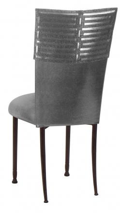 Head Dress wtih Gunmetal Stretch Knit Cushion on Mahogany Legs (1)