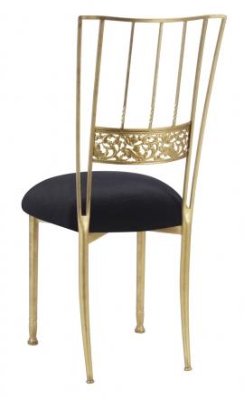 Gold Bella Fleur with Black Velvet Cushion (1)