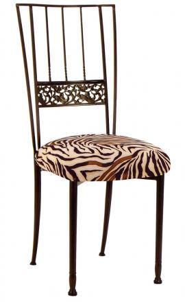 Mahogany Bella Fleur with Zebra Stretch Knit Cushion (2)