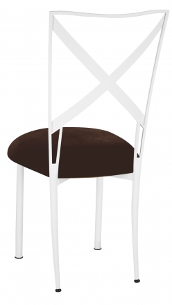 Simply X White with Chocolate Suede Cushion (1)