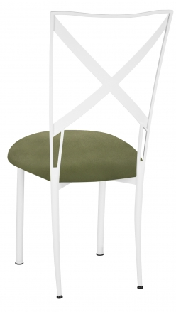 Simply X White with Sage Suede Cushion (1)