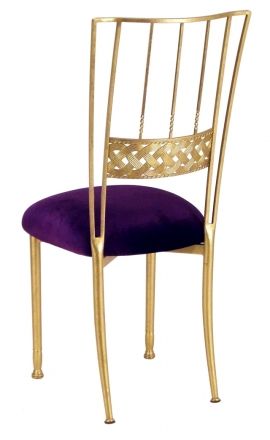 Gold Bella Braid with Deep Purple Velvet Cushion (1)