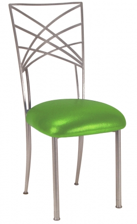 Silver Fanfare with Metallic Lime Cushion (2)