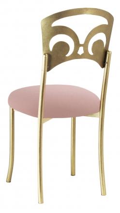 Gold Fleur de Lis with Blush Stretch Knit Cushion (1)