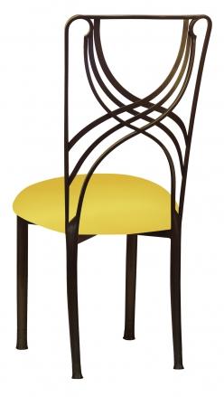 Bronze La Corde with Bright Yellow Stretch Knit Cushion (1)