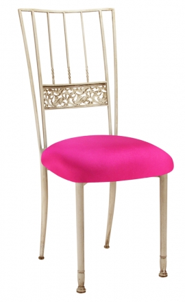 Ivory Bella Fleur with Hot Pink Stretch Knit Cushion (2)