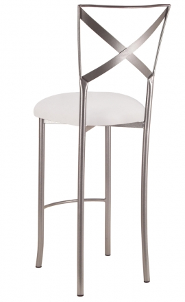 Simply X Barstool with White Suede Cushion (1)