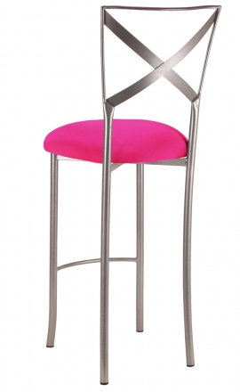 Simply X Barstool with Hot Pink Stretch Knit Cushion (1)