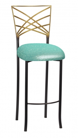 Two Tone Fanfare Barstool with Mermaid Knit Cushion (2)
