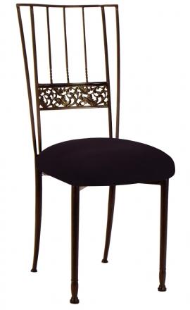 Mahogany Bella Fleur with Black Suede Cushion (2)