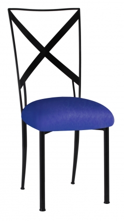 Blak. with Royal Blue Stretch Knit Cushion (2)