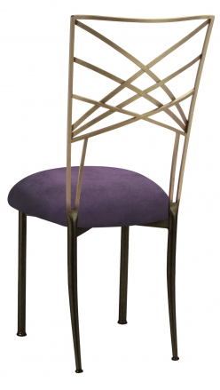 Two Tone Fanfare with Lilac Suede Cushion (1)