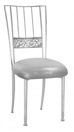 Silver Bella Fleur with Metallic Silver Stretch Knit Cushion (2)