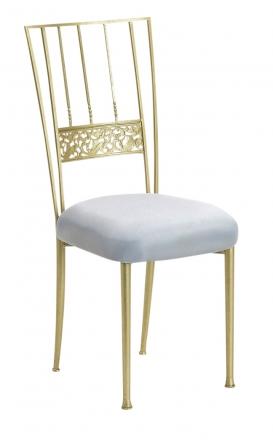 Gold Bella Fleur with Silver Stretch Knit Cushion (2)