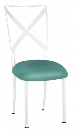 Simply X White with Turquoise Velvet Cushion (2)