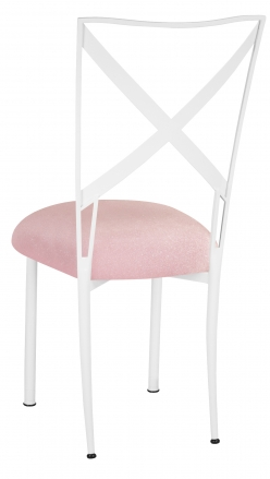 Simply X White with Pink Sparkle Velvet Cushion (1)