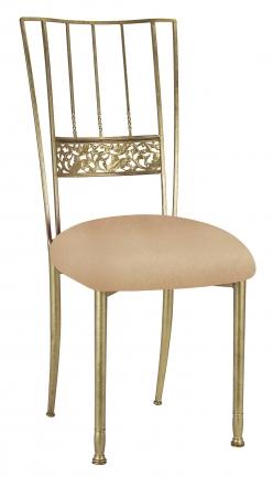 Gold Bella Fleur with Beige Stretch Knit Cushion (2)